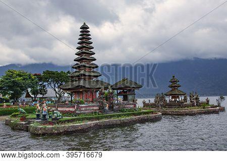 Ubud, Bali, Indonesia, August, 2019: Beautiful Pura Ulun Danu Batur Is A Temple In Bali Situated On