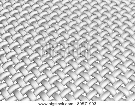 3D Rendered Illustration Of Interlaced Fiber On White