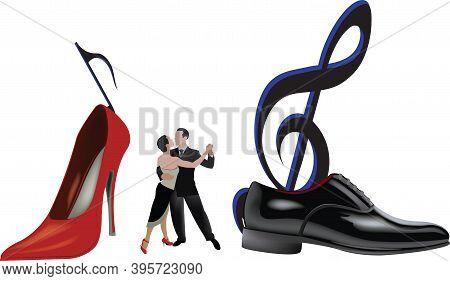 Pair Of Tango Dancers Pair Of Tango Dancers