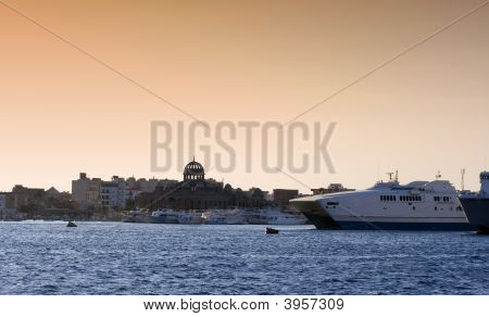 Fishing And Ferry Port In Hurghada, Egypt