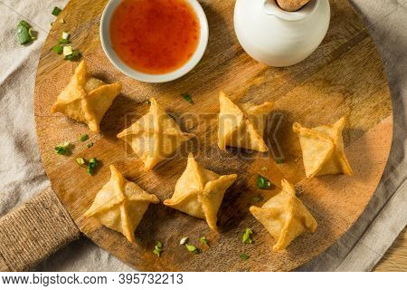 Homemade Fried Crab Rangoon Wontons