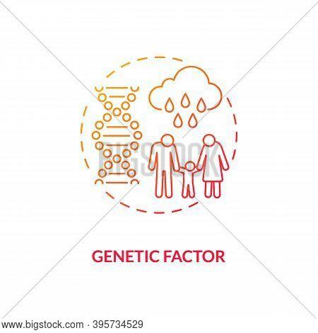 Genetic Factor Concept Icon. Sad Risk Group Idea Thin Line Illustration. Seasonal Affective Disorder