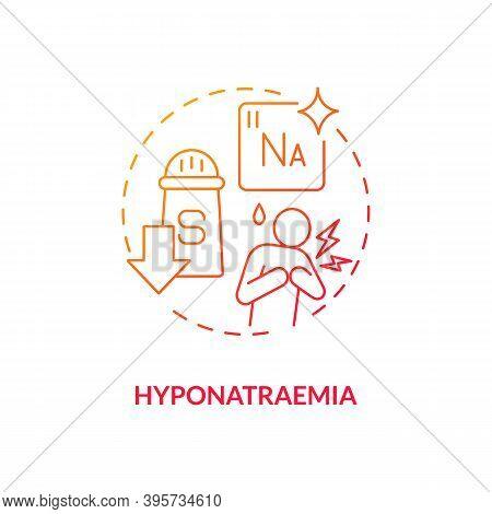 Hyponatraemia Concept Icon. Antidepressants Side Effect Idea Thin Line Illustration. Post-operative