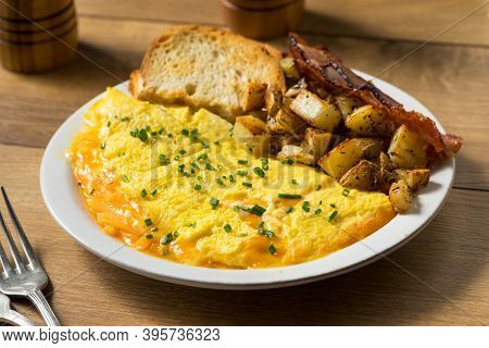 Homemade Healthy Cheese Omelet For Breakfast