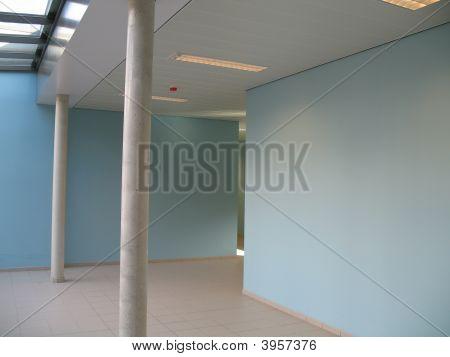 Corridor At School In Blue