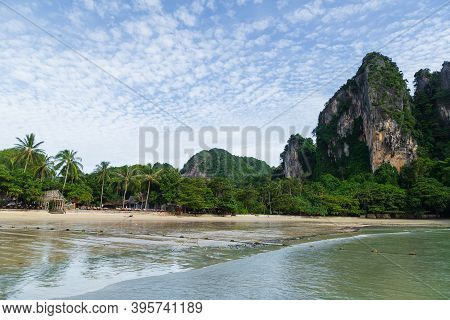 Views Of The Exotic Beach Of Railay, Krabi, Andaman Sea, Thailand