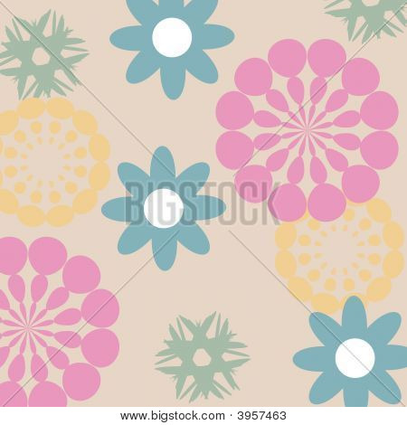 Abstract Flower Pattern.Eps