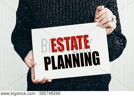 Text Writing Words Real Estate Planning. Business Concept For Insurance Investment Retirement Plan M