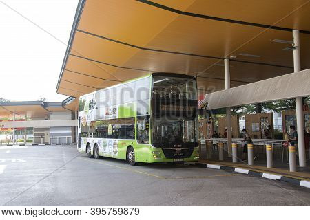Singapore- 14 Nov, 2020: Choa Chu Kang Temporary Bus Interchange In Singapore.it Is A Bus Interchang