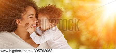 Love of a mother and baby. Family on nature. Lifestyle