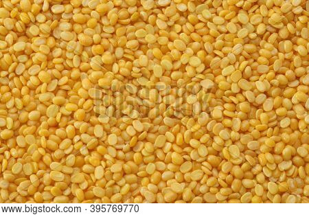 Split Mung Bean Lentils Also Know As Mungbean, Green Moong Bean, Mung Gram, Vigna Radiata, Green Gra