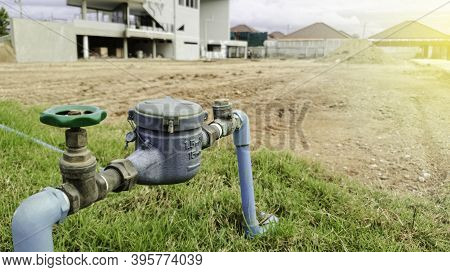 Water Pump Station And Pipeline For The Village, Water Supply System