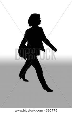 Form Frau zu Fuß