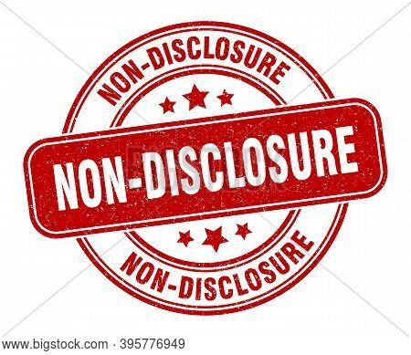Non-disclosure Stamp. Non-disclosure Label. Round Grunge Sign