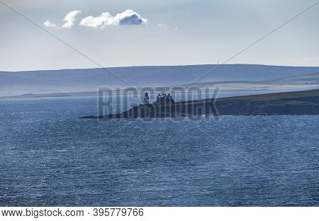 The Picture Shows The Island Landscape Of Orkney Island In Mystical Light