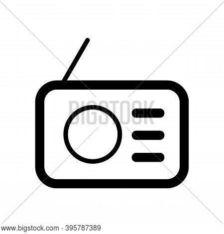 Analog Radio Icon Isolated On White Background. Analog Radio Icon Modern And Simple Symbol For Web S