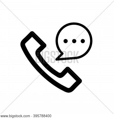Incoming Call Icon Isolated On White Background From Message Collection. Trendy And Modern Incoming