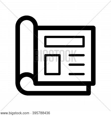 Magazine Icon Isolated On White Background From Book Collection. Trendy And Modern Magazine Symbol F