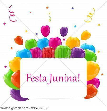 Festa Junina Holiday Background. Traditional Brazil June Festiva