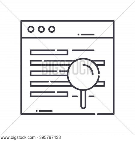 Dns Icon, Linear Isolated Illustration, Thin Line Vector, Web Design Sign, Outline Concept Symbol Wi