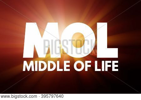 Mol - Middle Of Life Acronym, Business Concept Background