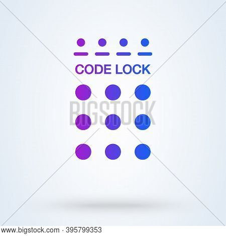 Password Field Sign Icon Or Logo. Password And Unlock Concept. Pin Code Entry Vector Illustration.