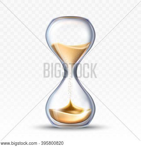 Hourglass Sandglass Measuring Time Tool Vector Illustration