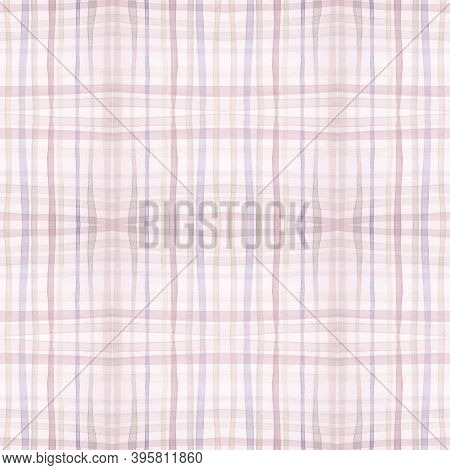 Plaid Pattern. Neutral Tartan Texture. Irish Gingham Kilt. Seamless Modern Repeat. Traditional Plaid