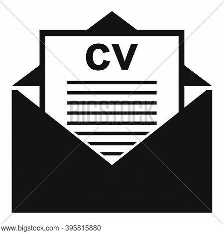 Headhunter Cv Mail Icon. Simple Illustration Of Headhunter Cv Mail Vector Icon For Web Design Isolat