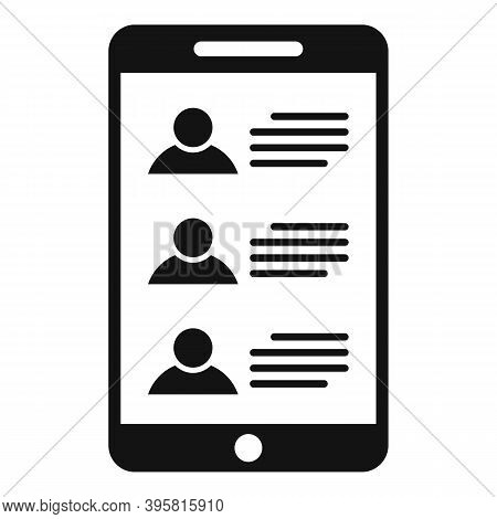 Smartphone Headhunter Icon. Simple Illustration Of Smartphone Headhunter Vector Icon For Web Design