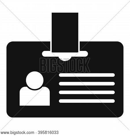 Headhunter Id Card Icon. Simple Illustration Of Headhunter Id Card Vector Icon For Web Design Isolat