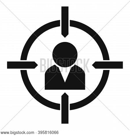 Talent Worker Target Icon. Simple Illustration Of Talent Worker Target Vector Icon For Web Design Is
