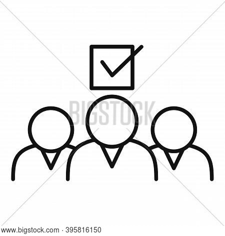 Group People Headhunter Icon. Outline Group People Headhunter Vector Icon For Web Design Isolated On