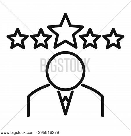 Headhunter Icon. Outline Headhunter Vector Icon For Web Design Isolated On White Background