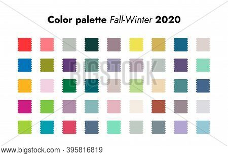 Trendy Colors. Fall-winter Fashion Palette Forecast, Colorful And Neutral Schemes. Analytics Of Styl