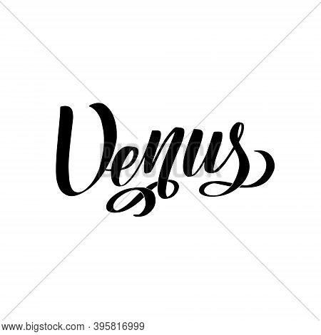 Venus. Isolated Inscription. Planet Venus For Print, School Textbook