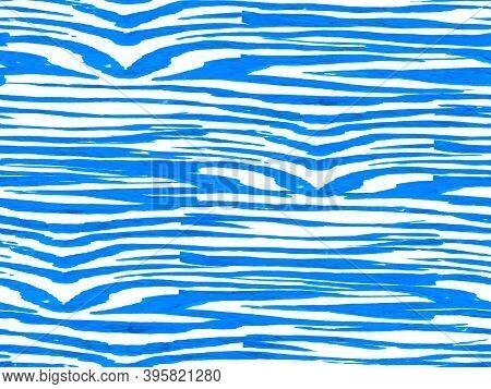 Zebra Skin Print. Animal Camouflage Background. African Pattern. Stripes Seamless Pattern. Geometric
