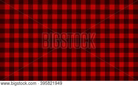 Red Black Brown Vintage Checkered Background. Space For Graphic Design. Checkered Texture. Classic C