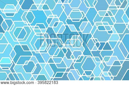 Abstract Vector Stained-glass Mosaic Background - Light Blue