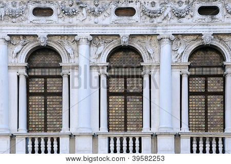 Windows Of National Library Of St Mark's