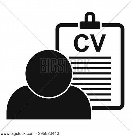 Recruiter Cv Board Icon. Simple Illustration Of Recruiter Cv Board Vector Icon For Web Design Isolat