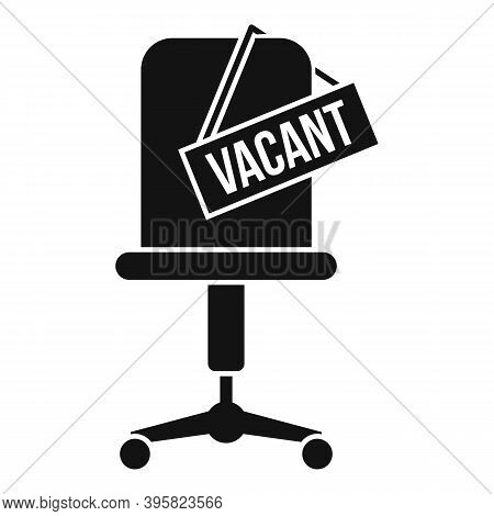 Recruiter Vacant Work Place Icon. Simple Illustration Of Recruiter Vacant Work Place Vector Icon For
