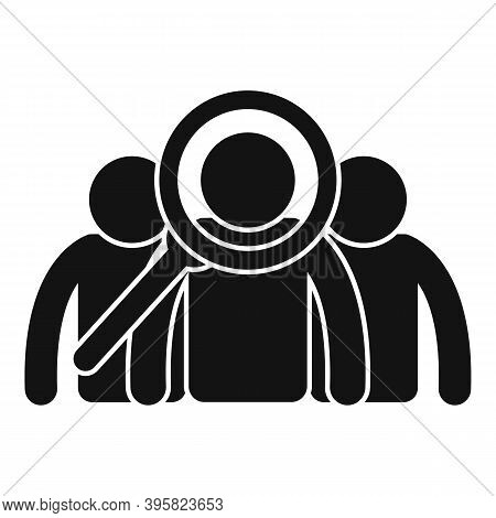 Recruiter Search Group People Icon. Simple Illustration Of Recruiter Search Group People Vector Icon