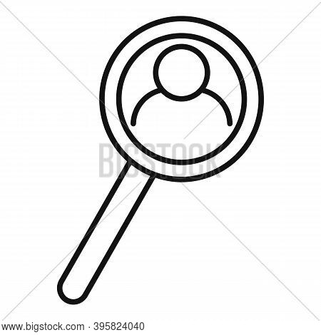 Recruiter Magnifier Search Icon. Outline Recruiter Magnifier Search Vector Icon For Web Design Isola