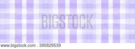 Purple Flannel Checks. Watercolor Plaid Textile. Vintage Checkered Wallpaper. Seamless Flannel Check