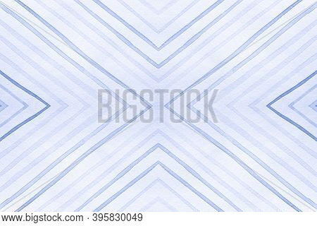 Seamless Geometric Zigzags. Drawn By Hand Stripes Background. Blue And White Grunge Rhombuses. Geome