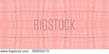 Watercolour Pink Plaid. Girl Elegant Picnic Pattern. English Checkered Twill. Seamless Pink Plaid. P