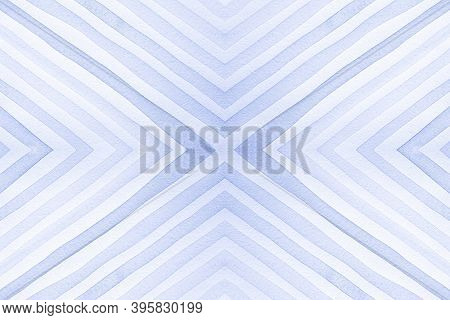 Seamless Geometric Ethnic Pattern. Painted Color Stripes Ornament. Indigo Abstract Diamonds. Geometr