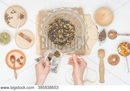 Step By Step Preparation Of Masala Tea With . Step 22 - Pack The Finished Masala Tea