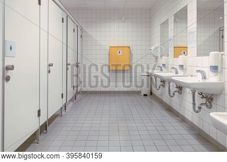 Public Toilet, Restroom, Lavatory Doors, Baby Changing Table